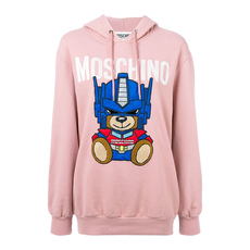 Moschino Transformers Teddy Hoodie Pink