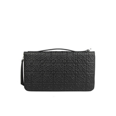 Loewe Oversized Zip Around Wallet Black
