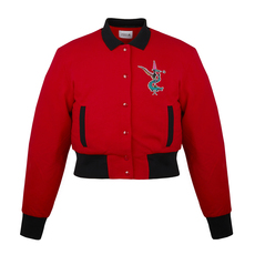 Lacoste Embroidered Revamped Croc Jacket Red