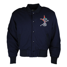 Lacoste Embroidered Logo On Back And Chest Jacket Blue