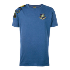 Mr & Mrs Italy Patch Round Neck T-Shirt Blue