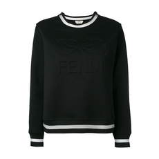 Fendi Embossed Logo Sweatshirt Black
