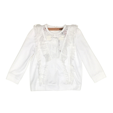 N°21 Ruffle And Lace Sweatshirt White