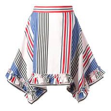 Msgm Striped Skirt Red/Blue