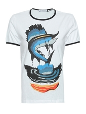 J.W.Anderson Barracuda Print T-Shirt White
