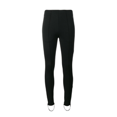 Balenciaga Jersey Leggings With Elastic Foot Band Black