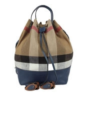 816fab2e25ef Burberry Canvas Check And Leather Bucket Bag