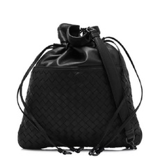 Bottega Veneta Bucket Bag In Nero Intrecciato Nappa d60d79a28e5fd