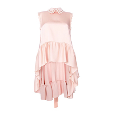 Fendi Asymmetric Ruffle Top Pink