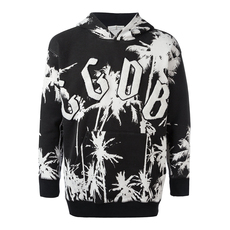 Golden Goose Deluxe Brand Print All Over Hoodie Black/White