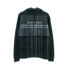 Hood By Air Double Zip Drawstring Hoodie Black