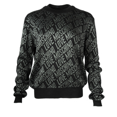 Love Moschino Words Printed Sweater Black