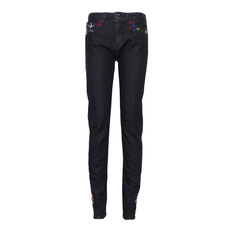 Love Moschino Multi-Colour Embroidered Jeans Blue