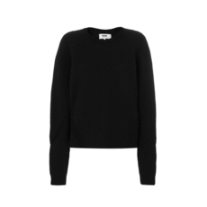 Msgm Drop Shoulder Sweater Black