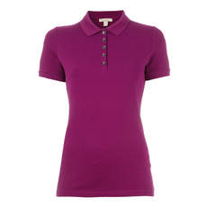 Burberry Classic Polo Tee Magenta Pink