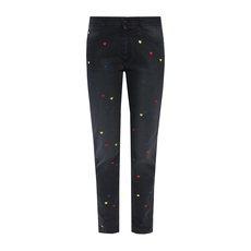 Stella Mccartney Heart Embroidered Jeans Blue