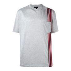 Lanvin Striped Trim T-Shirt Grey