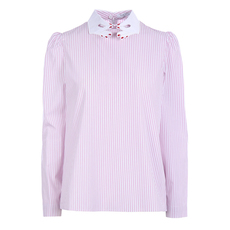 Vivetta A Line With Striped Top Pink/White