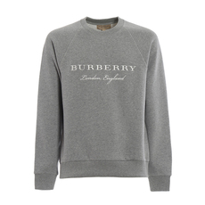 Burberry Embroidered Logo Sweatshirt Pale Grey