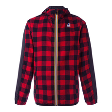 N°21 Checkered Drawstring Hooded Jacket Red/Black