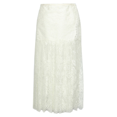 Ermanno Scervino Lace Details Long Skirt White