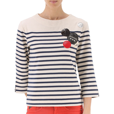 Marc Jacobs Patched Dreton Stripe T-Shirt Blue/Beige