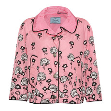 Prada Waterproof Flora Snapped Jacket Pink