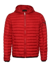 Prada Zipped Down Jacket Red