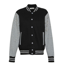 Nightmarket Crystal Embellished Jacket Black/Grey