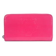 Kenzo Tiger Zip Around Wallet Pink