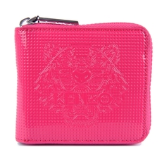Kenzo Squared Tiger Zip Around Wallet Pink