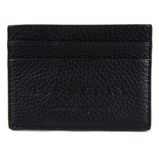 Burberry Textured Leather Card Case Black