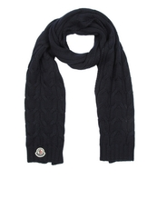 Moncler Cable Knit Wool Scarf