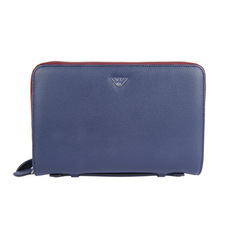 Emporio Armani Organizer Travel Wallet Blue/Red