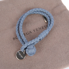 Bottega Veneta Intrecciato Nappa Bracelet Light Blue