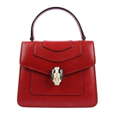 Bvlgari Serpenti Forever Flap Cover Bag In Ruby Red