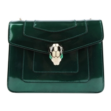 Bvlgari Serpenti Forever Flap Cover Bag In Forest Emerald