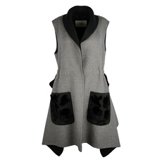 Fendi Knitted Sleeveless Dress Grey