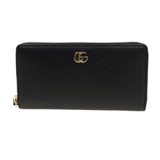 Gucci Leather Zip Around Wallet Black