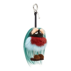 Fendi Mum Bag Charm In Multicolored Fur