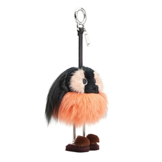 Fendi Dad Bag Charm In Multicolored Fur