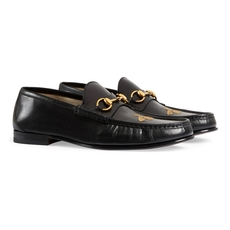 Gucci Leather Loafer With Bee