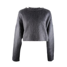 Celine A-Line Sweater In Brushed Mohair And Silk Gauze