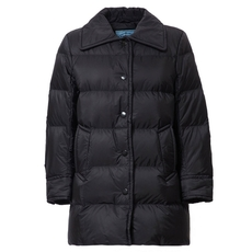 Prada Longline Down Jacket Black