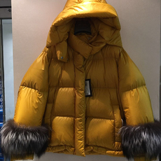 Prada Fur Cuff Down Jacket