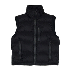 Prada Funnel Neck Down Vest Black