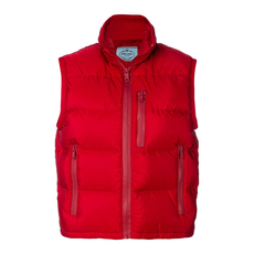 Prada Nylon Down Vest Red