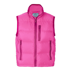 Prada Funnel Neck Down Vest Fuchsia