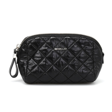 Moncler Quilted Nylon Medium Cosmetic Pouch Black