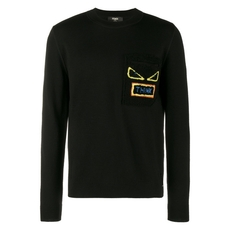 Fendi Bugs Think Pullover In Black